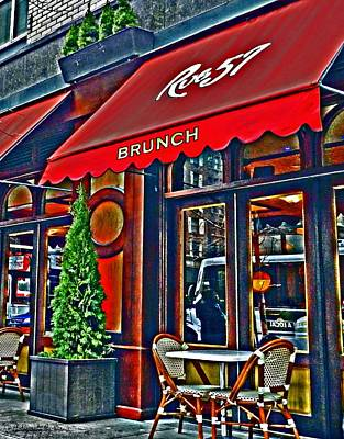 Brunch At The Cafe' Poster by Mamie Thornbrue