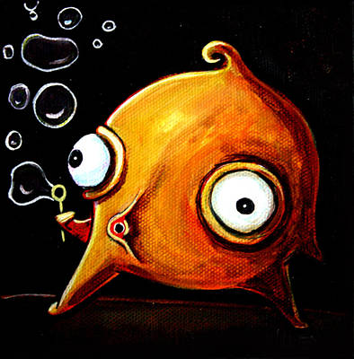 Bubbles Glob Poster by Leanne Wilkes