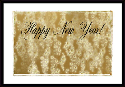 Bubbly New Year Poster