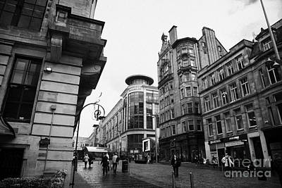 Buchanan Street Shopping Area On A Cold Wet Day In Glasgow Scotland Uk Poster