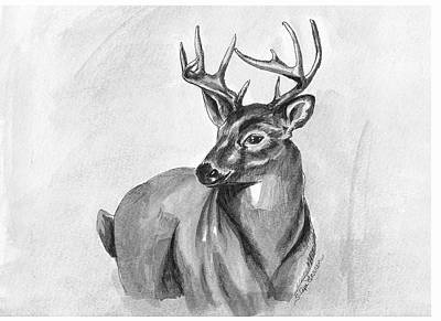 Poster featuring the painting Buck by Sarah Farren