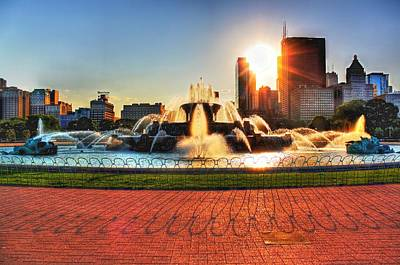 Buckingham Fountain Poster