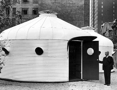 Buckminster Fuller 1940s With His Bomb Poster