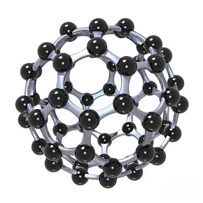 Buckminsterfullerene Or Buckyball C60 18 Poster by Russell Kightley