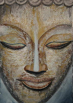 Buddha Face Poster by Teresa Beyer