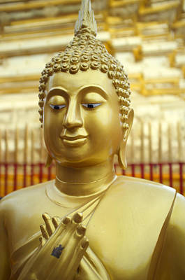 Buddha Figure At Wat Doi Suthep Poster by Toby Williams