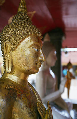 Buddha Figure At Way Doi Suthep Poster by Toby Williams