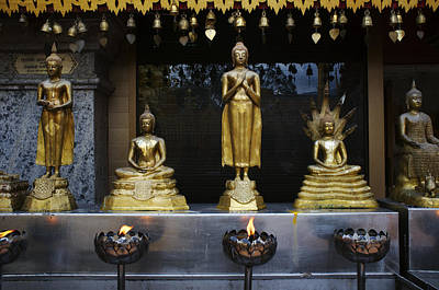 Buddha Figures At Wat Doi Suthep Poster by Toby Williams