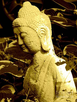 Poster featuring the photograph Buddha  by France Laliberte