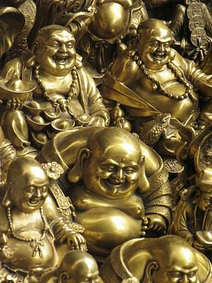 Buddha Statues Are Sold At A Curio Poster