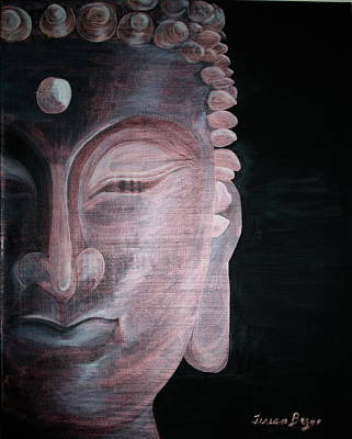 Poster featuring the painting Buddha by Teresa Beyer