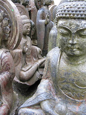 Poster featuring the photograph Buddhas2 by Brian Sereda
