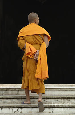 Buddhist Monk 1 Poster by Bob Christopher