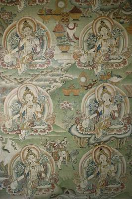 Buddhist Painting Inside The Jokhang Poster
