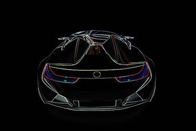 Bugatti Luxury Sport Car Illustration Poster by Radoslav Nedelchev