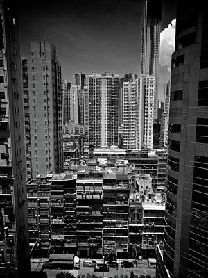 Buildings In Hong Kong Poster