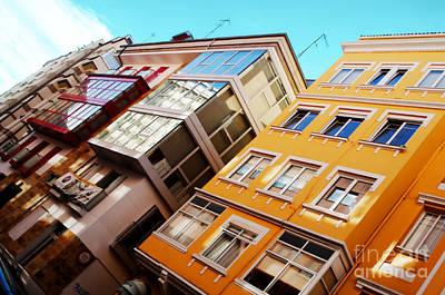 Buildings - La Coruna Spain Poster by Mary Machare