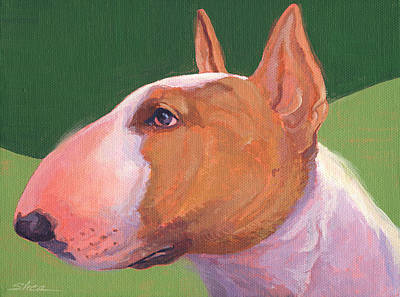 Bull Terrier Poster by Shawn Shea