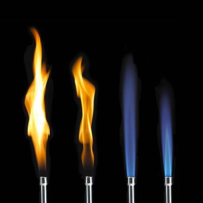 Bunsen Burner Flame Sequence Poster by