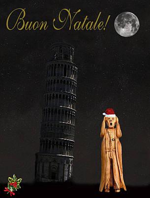 Buon Natale Pisa Merry Christmas Poster