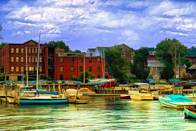 Poster featuring the photograph Burlington Harbor In Vermont by Gina Cormier