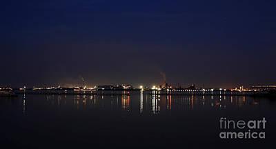 Burlington Lakeshore At Night Poster