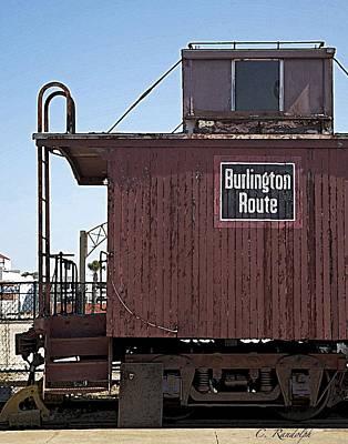 Poster featuring the photograph Burlington Route by Cheri Randolph
