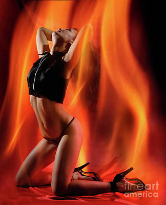 Burning In Flames Poster