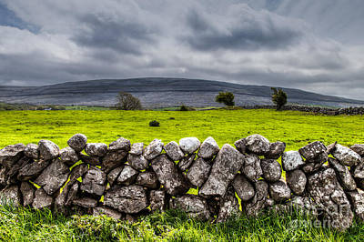 Poster featuring the photograph Burren Stones by Juergen Klust