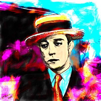 Buster Keaton Poster by Arne Hansen