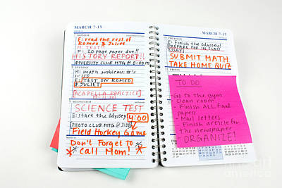 Busy Homework Planner Poster by Photo Researchers, Inc.