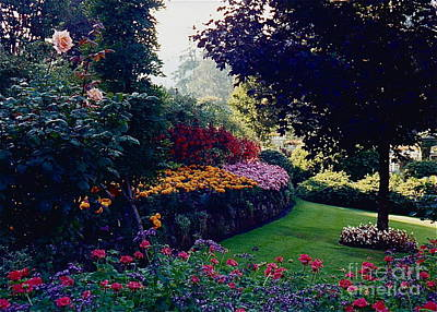 Butchart Gardens Shade And Sun Poster
