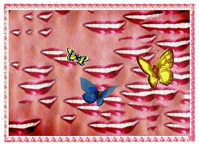 Butterfly Kisses Poster by Bill Cannon