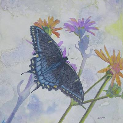 Poster featuring the painting Butterly by Robert Decker