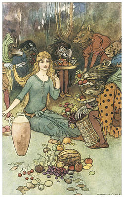 Buy From Us With A Golden Curl Poster by Warwick Goble