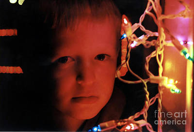 By The Glow Of Christmas Lights Poster