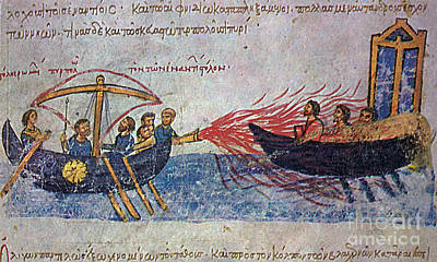 Byzantine Sailors  Poster by Photo Researchers
