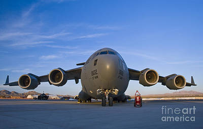 C-17 At Sunset Poster by Tim Mulina