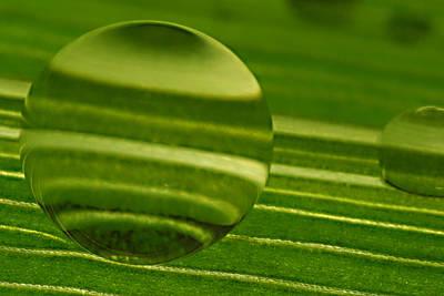 C Ribet Orbscapes Green Jupiter Poster