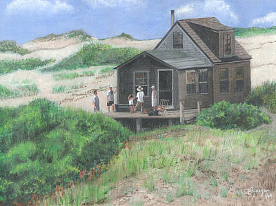 Cabin In The Dunes Poster by Stuart B Yaeger