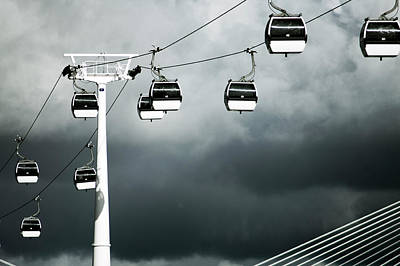 Cable Railway In Lisbon. Poster