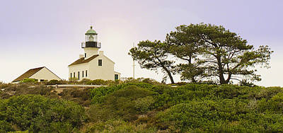 Cabrillo National Park Lighthouse Poster by MaryJane Armstrong