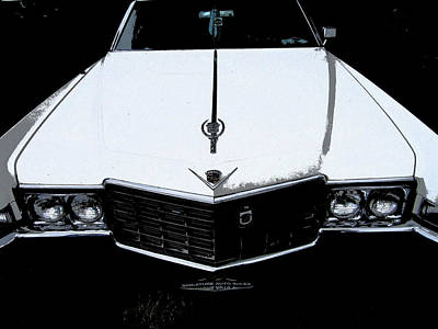 Poster featuring the photograph Cadillac Pimp Mobile by Kym Backland