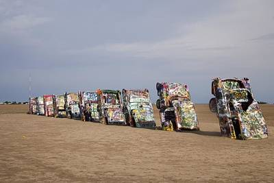 Cadillac Ranch Is A Public Art Poster by Everett