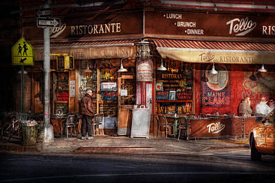 Cafe - Ny - Chelsea - Tello Ristorante Poster by Mike Savad