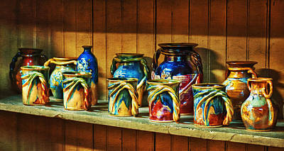 Calico Pottery Poster by Brenda Bryant