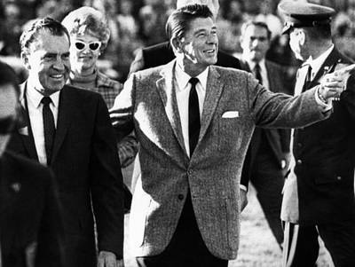 Calif. Governor Ronald Reagan Escorts Poster by Everett