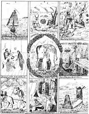 California Gold Rush, 1850 Poster