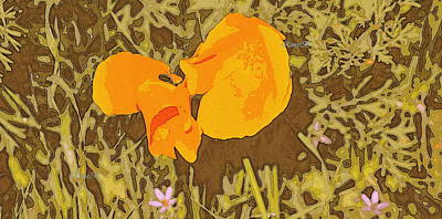 Poster featuring the photograph California Poppy by Rima Biswas