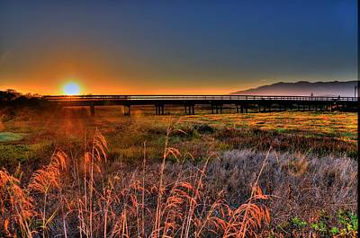 Poster featuring the photograph California Sunset by Marta Cavazos-Hernandez